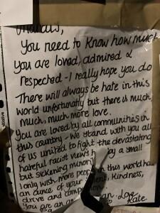 Kate note to Marcus Rashford